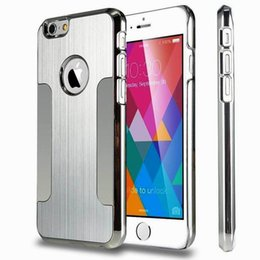 Wholesale Hot On Ebay Double Blade Metal Aluminium Alloy PC Back Cover hybrid Armor Case For Iphone s s plus