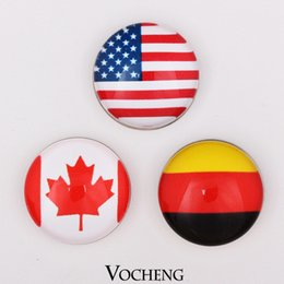 Wholesale Vocheng Noosa Interchangeable Snap Buttons Jewelry Accessory National Flag Style Ginger Snap Jewelry Vn