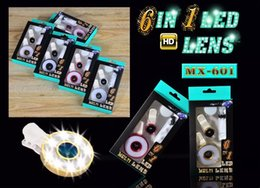 Wholesale MX High HD LED Flash Lights Mini Selfie Noctilucent Special Effect Phone LED Light Micro Fisheye Wide Lens Set for IOS Andriod Phone