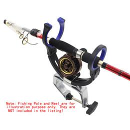 Wholesale Hot Fishing Pole Bracket Clamp Clip Stander Fishing Rod Holder Boat Fishing Pole Holder Aluminium Alloy Fish Tackle Tool order lt no track