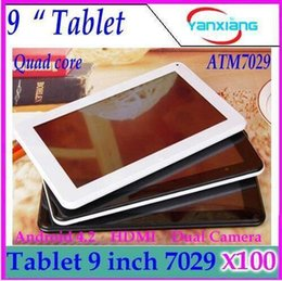 "9"" Quad Core CPU Android 4.2 512MB 8GB NAND Flash Action ATM7029 WIFI Dual Cameras HDMI 9 inch android tablet hdmi ZY-MID-25"