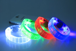 2015 New Voice Activated Sound Control Led Flashing Bracelet Bangle Wristband for Night Club Activity Party Bar Disco