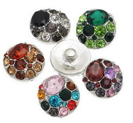 NOOSA Amsterdam 20mm rhinestone round multi-color Jewelry Interchangeable Snap Buttons DIY Accessory Ginger Snap Jewelry in mix colors
