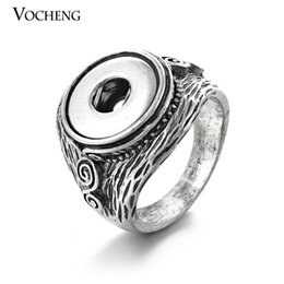 NOOSA Chunks jewelry 12mm Vintage Button Ring Interchangeable Jewelry Ginger Snap Ring (VH-004)