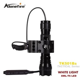 501B Tactical Flashlight 2000 lumens T6 Hunting Rifle Torch Shotgun lighting Shot Gun Mount+Tactical mount+Remote switch