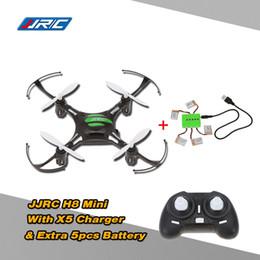 Promotion 3d lipo Nouvelle originale JJRC H8 Mini Drone 2.4G 4CH 6 Axis RTF 3D RC Quadrocopter avec 5pcs 3.7V 150mAh Lipo batterie et chargeur pour $ piste 18Personne