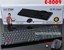 Wholesale-E8009 wireless mouse and keyboard set desktop laptop keyboard