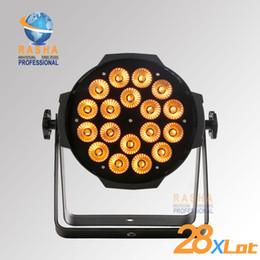Wholesale 28X New W LED RGBA RGBW Quad Color Par Can Light X DMX controller x DMX cable Set