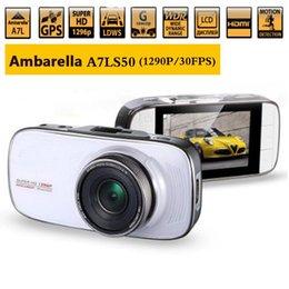 Wholesale car dvd Ambarella A7 LS50 OV4689 Car DVR Camera Super Full HD P fps GPS Logger Degree View Angle WDR Night Vision Dash Cam