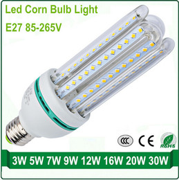 Wholesale Super bright U series LED Corn Light W W SMD E27 Base Energy saving LED bulb isolate Constant Current Driver AC85 V