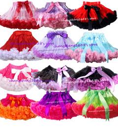 Retail Girls Pettiskirt Children Baby Purple With Hot Pink Ruffle 2 Color Splice TuTu Skirts Princess Skirt Dance Skirts Kids Clothing 1 PCS