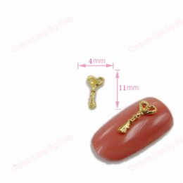 Wholesale News D Alloy Gold Key Design Supply Polish Mate Glitters Slices Metal Nail Art Decoration mm