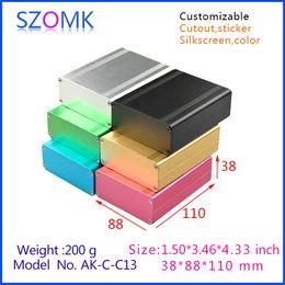 Wholesale 4 anodizing electronics powder coating aluminum enclosure x88x110mm electronics aluminum outlet boxes extruded electrical boxes