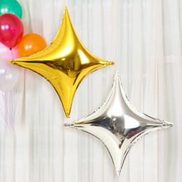 Wholesale Color Star Aluminum Balloons Christmas Party Decoration Happy Birthday Children Balloon Toys Wedding Decoration Kids Gift Favors SD452