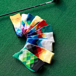 Happy socks British style sub gradient color diamond Men's Socks Men's Socks Conventional models autumn and winter