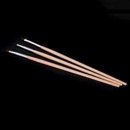 2017 sistemas de la pluma de madera Art Design Tool Pintura mayor-profesionales 3 piezas Nail Art Pinceles uñas herramientas de bricolaje de madera polaco de la pluma del sistema de cepillo de uñas Kit # 01 sistemas de la pluma de madera en venta