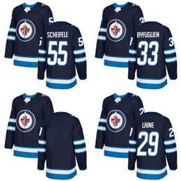2017-2018 Season Newest Winnipeg Jets 29 Patrik Laine 33 Dustin Byfuglien 55 Mark Scheifele blank Hockey Jerseys