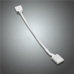 Descuento extensión del controlador LED RGB luz de tira sin soldadura conector 4pins RGB controlador conector el cable de extensión de la tira de luz LED separae conectar alambre
