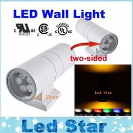 Dans la lumière conduit 6w en Ligne-LED Lampe de mur extérieur Jardin Décoration murale éclairage extérieur Appliques Fixture 6W 12W 18W 24W 36W Double UP-Bas mural Lumière 85-265V