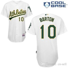 Wholesale Newest Oakland Athletics Daric Barton White Cool Base Baseball Jerseys Personalized Customized Jerseys