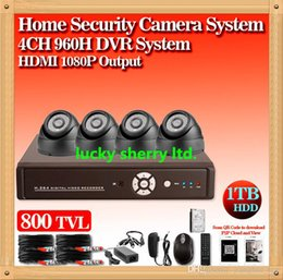 CIA-Free shippping!Home Security 4ch CCTV System 800TVL Camera Network DVR Recorder 4ch Video Surveillance System DVR Kit