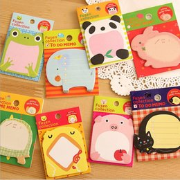 Wholesale 10x Korean kawaii Zoo adesivo articulos de papelaria stationery planner scrapbooking stickers papel sticky notes escritorio
