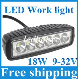 18W CREE LED Work Light Bar JEEP Spot Flood Beam Fog Lamp 12V 24V 6LED*(3W) 1600lm IP67 OffRoad Motorcycle Truck Driving