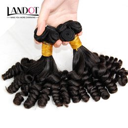 Grade 8A Unprocessed Mongolian Aunty Funmi Curly Virgin Human Hair Weaves Bundles Romance Sprial Bouncy Egg Curls Natural Color Can Bleach