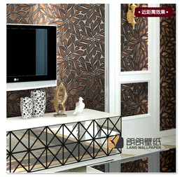 Modern Wallpaper 3d Abstract Art Stereo Fashion Wallpaper Embossed Mural Tv Background Wall Dark Color
