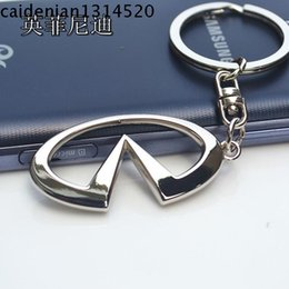 Wholesale 3d cutout series infiniti car emblem keychain key ring key chain s laser lettering