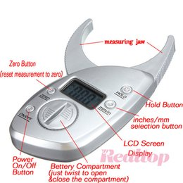 Wholesale Freeshipping Health Goods Digital Body Fat Caliper Skin Fold Measurement Fat Thickness
