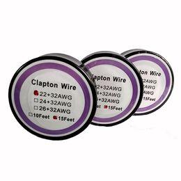 Mejor rba en Línea-El mejor alambre de resistencia de alambre de Clapton 15 pies 22 + 32 24 + 32 26 + 32 hilos de calentamiento del calibrador para DIY Reconstruible RDA RBA E Cig Atomizer