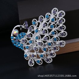 New Korean Fashion Personality Female Peacock Rhinestone Brooch Pins Vintage Lovely Brooches for Women Wholesale Free shipping
