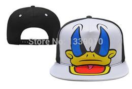 Wholesale NEW Donald Duck Snapbacks Cartoon Snapback Hat Cool Boys Girls Snap Back Cap Christmas Snap Backs Hat Hip Hop Cap Sports Cap