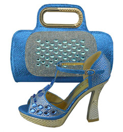 High grade Italian style shoes matching bags series C1308-31-1blue,Pretty ady shoes and handbag sets for party