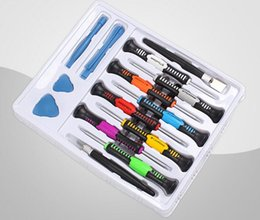 Wholesale 16 in Repair Tools Screwdrivers Set Kit For Mobile Phone iPhone S S GS iPad Samsung computer