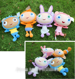 Wholesale 6 off2015new arrival Original Preschool Cartoon TV Show Waybuloo Monkey Cat Rabbit Bear Soft Doll Plush Baby toys set