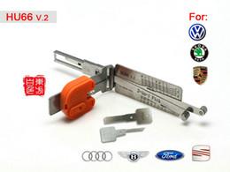 Wholesale Smart hu66 V in auto pick and decoder locksmith lock pick tool Lishi tool