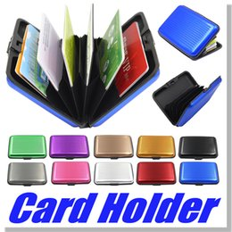 Wholesale Aluminium Credit card wallet cases card holder bank card case wallet Black colors available