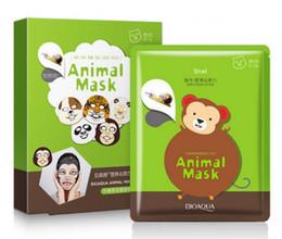 Wholesale Moisturizing Whitening rejuvenation snail nutrition stretch silky facial mask Lovely animal monkey face mask