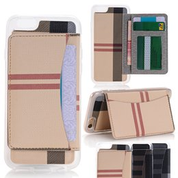 Stripe Line Style Wallet PU Leather Cover Stand Case Pouch With Card Slots Photo Frame for iPhone 5S 6 6s PLUS i6