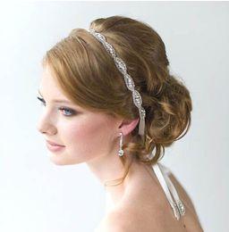 Wholesale New Wedding hair jewelry wedding romantic crystal rhinestone headband bride high quality beads hair jewelry bridal vintage hair accessories