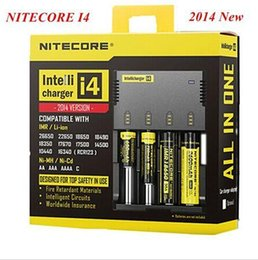 Wholesale New Nitecore i4 Intellicharge Universal Battery Charger RCR123A AA AAA WIth Retail box DHL
