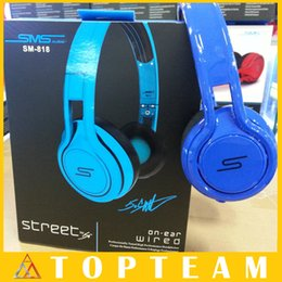Wholesale SMS Audio SYNC Wired STREET By Cent Headphones Black White Blue Over Ear Wired Headphones Headsets