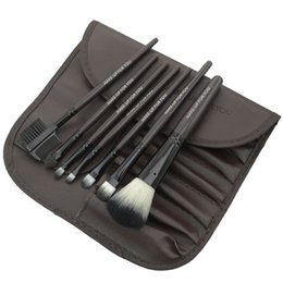 Makeup Brushes 1Set=7pcs Kit Beautiful Professional make Up brush Tools With Case zipper bag by DHL(0605004)