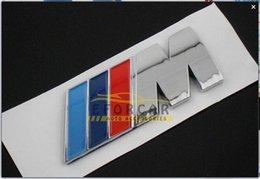 Wholesale 10x Metal M Sport M Tech Emblem Badge Logo Decal Sticker BLUE DARK BLUE RED