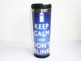 Wholesale New Doctor Who Keep Calm Carry On DIY Coffee Mug Tea Cup Travel Cup Sports Outdoor Cup CM OZ Best Gift