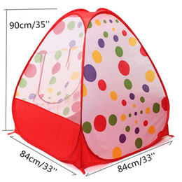 Portable Children Kids Play Tents Folding Indoor Outdoor Garden Toy Tent Castle Pop Up House Multi-function Gift