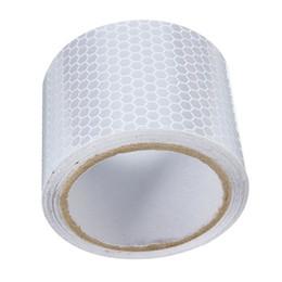 Descuento m seguridad 2inchX10inch 3 M blanco de plata reflectante de seguridad Advertencia de Visibilidad cinta pista para engomada de la película $ 18Nadie