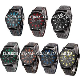 Wholesale Mix Colors Men Causal SPORT Military Pilot Aviator Army Racing Silicone GT Watch RW018